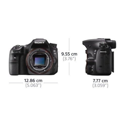 Sony SLT-A58K SLR-Digitalkamera (20,1 Megapixel, 6,7 cm (2,7 Zoll) LCD-Display, APS HD CMOS-Sensor, HDMI, USB 2.0)  inkl. SAL 18-55mm Objektiv schwarz - 14
