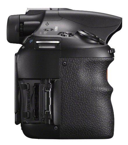 Sony SLT-A58Y SLR-Digitalkamera (20,1 Megapixel, 6,7 cm (2,7 Zoll) LCD-Display, APS HD CMOS-Sensor, HDMI, USB 2.0)  inkl. SAL 18-55mm & SAL 55-200mm Objektiv schwarz - 14