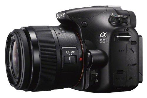 Sony SLT-A58Y SLR-Digitalkamera (20,1 Megapixel, 6,7 cm (2,7 Zoll) LCD-Display, APS HD CMOS-Sensor, HDMI, USB 2.0)  inkl. SAL 18-55mm & SAL 55-200mm Objektiv schwarz - 5